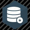 add, database, server, storage