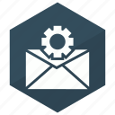 cog, email, gear, setting, settings