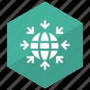 earth, global, network, world