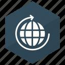 arrow, globe, refresh, reload
