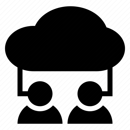 account, cloud, computing, man, user icon