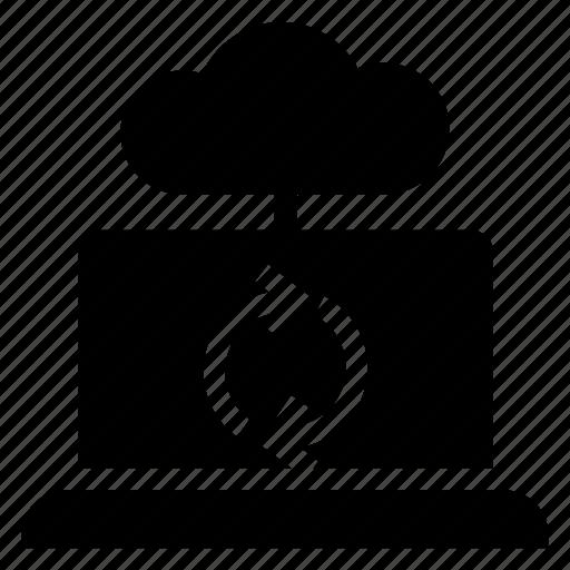 cloud, laptop, refresh, reload icon