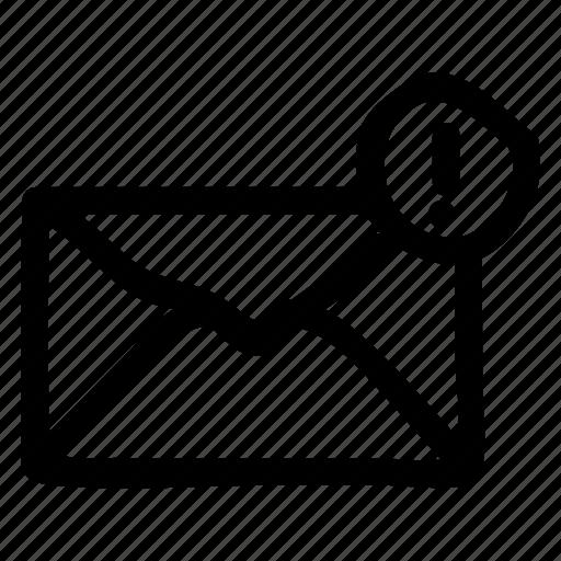 envelope, mail, message, unread icon