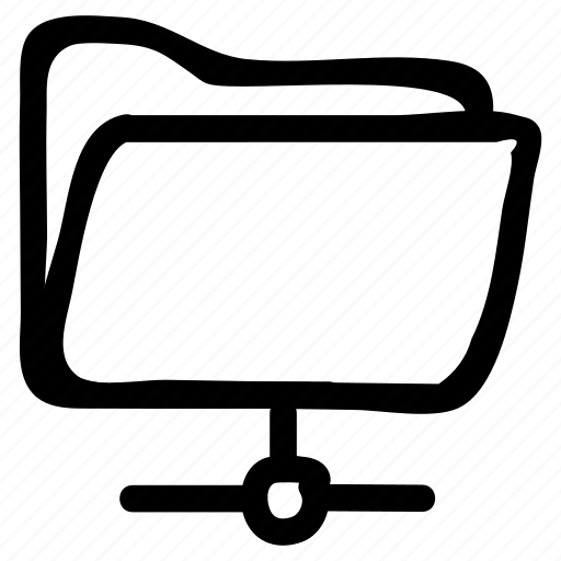 data, folder, media, share icon