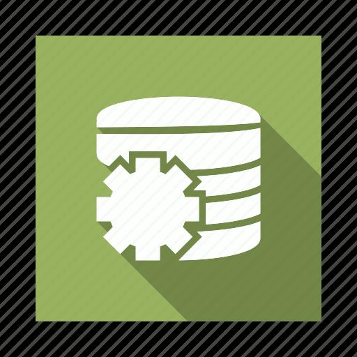 cog, database, server, setting icon