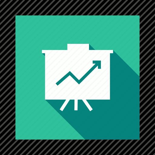 analysis, board, business, presentation icon
