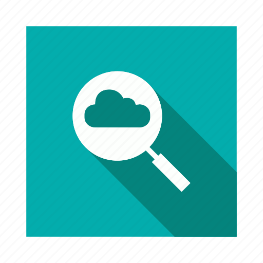 cloud, find, internet, search, vision icon