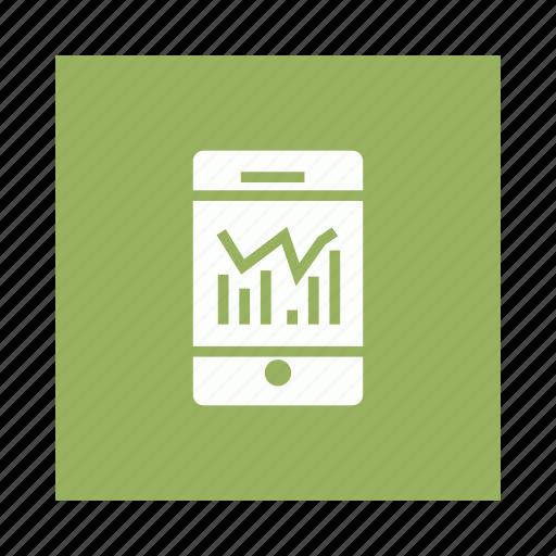 analysis, analytics, data, graph, mobile icon