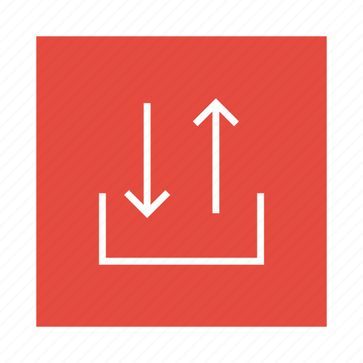 arrow, download, outgoing, upload icon