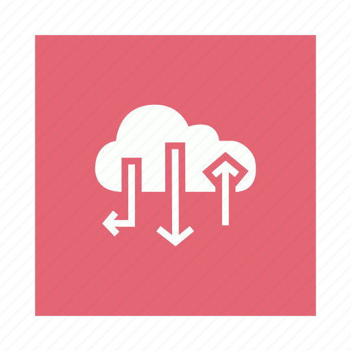 Arrow, cloud, internet, network icon - Download on Iconfinder