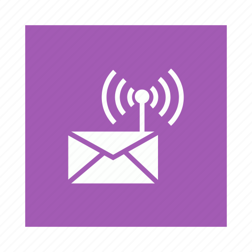 connection, email, mail, signal, wifi icon