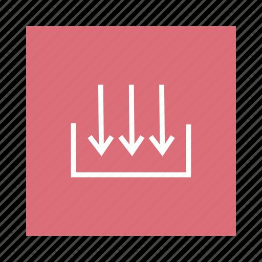 bottom, down, download, storage icon