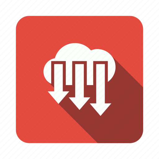 arrow, cloud, down, download, storage icon
