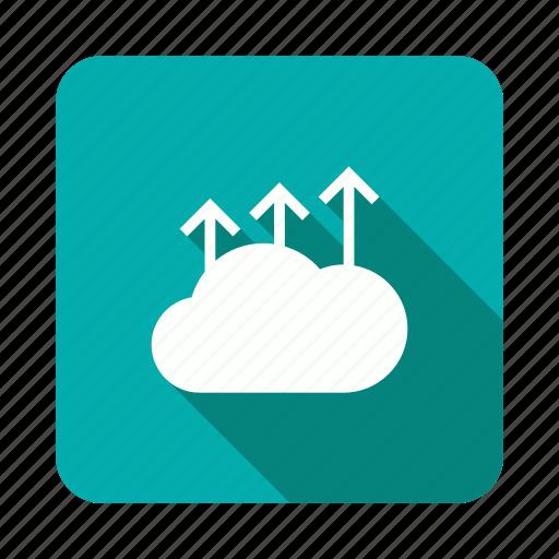 arrow, cloud, storage, upload icon