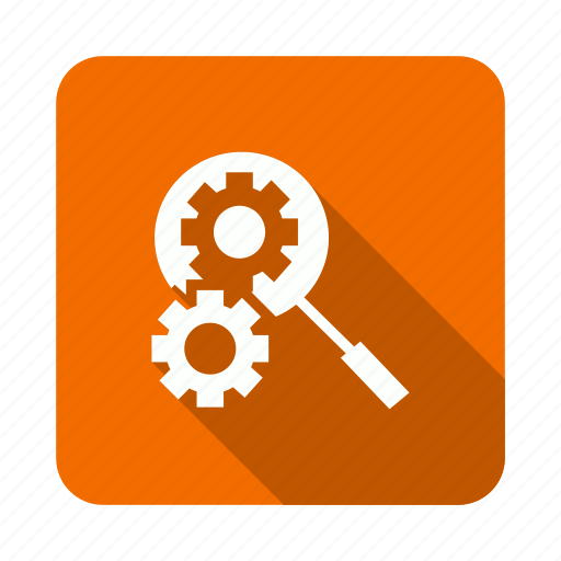 find, magnifier, search, setting icon