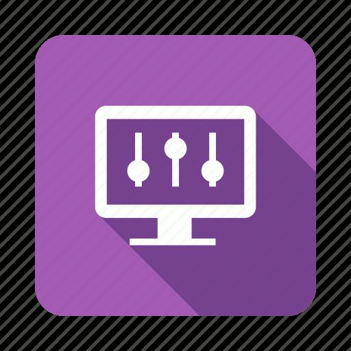 configuration, control, monitor, setting icon