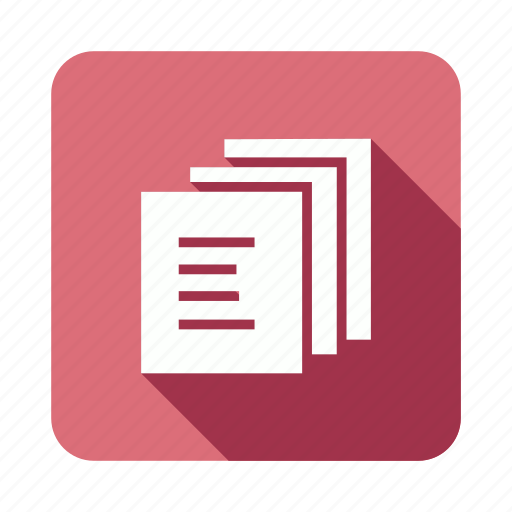 documents, files, library, papers icon