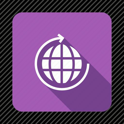 arrow, globe, refresh, reload icon