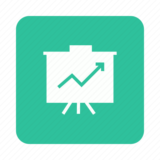 analysis, board, business, presentation icon