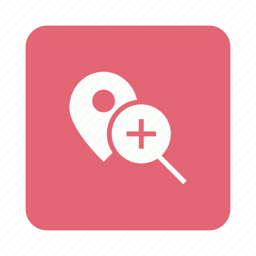 find, location, magnifier, pin, search icon