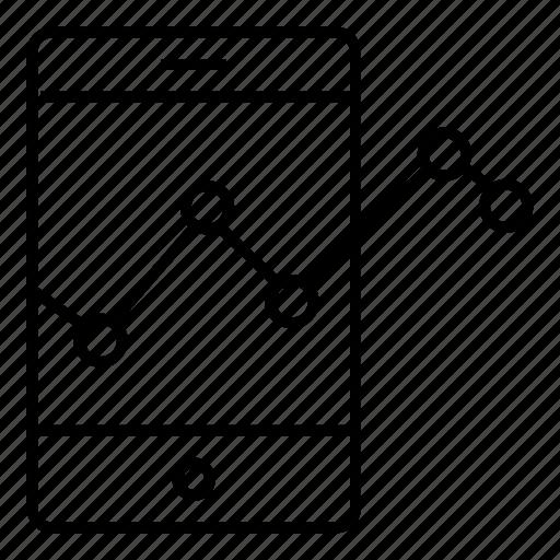 analysis, analytics, mobile, mobilegraph icon
