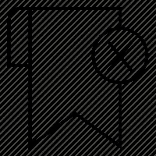 bookmark, delete, favorite, remove icon