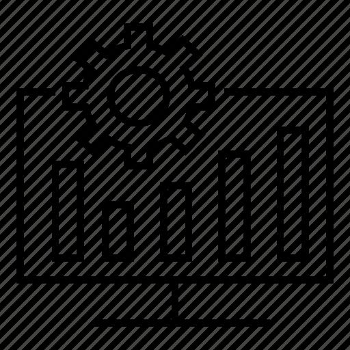 analysis, business, data, setting icon