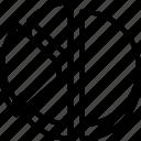 analytics, broken, chart, data, pie icon