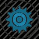 analytics, data, engineering, reverse, settings icon