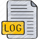 analytics, data, document, file, log icon