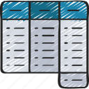 analytics, data, frequency, table icon