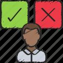 data, maker, decision, thinking, analytics icon
