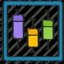 analytics, box, data, plot icon