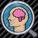 research, data, behaviour, customer, analytics icon