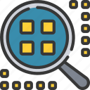 analytics, cluster, data, information icon