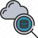 analytics, cloud, data, search icon