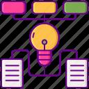 algorithms, chart, hierarchy, structure icon
