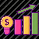 business, graph, money, statistics icon