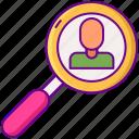customer, search, user, profile icon