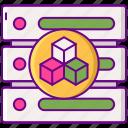 data, database, modelling, server icon