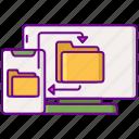 data, document, folder, synchronization icon