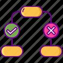 chart, decision, flow, tree icon