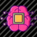 ai, brain, chip, intelligent icon