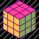 3d, cube, rubik, shape