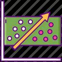 analysis, plot, regression, statistics icon