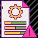 analytics, customization, report, warning