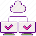 cloud, hosting, shared, web icon