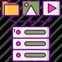 data, server, storage, structured