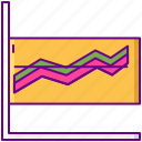 analytics, graph, statistics, variability icon