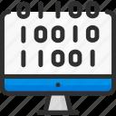 codding, code, computer, data, monitor icon